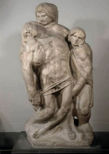 """Palestrina Pietà"" 1555, mermer, yükseklik 253 cm Galleria dell'Accademia, Floransa, İtalya"