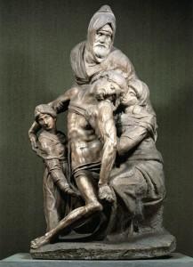 """Pietà"" 1550, mermer, yük. 226 cm Museo dell'Opera del Duomo, Floransa, İtalya"