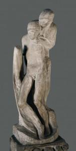 """Pietà Rondanini"" (bitmemiş) 1552-64, mermer, yük. 195 cm                Castello Sforzesco, Milano, İtalya"