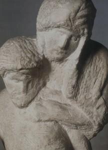 """Pietà Rondanini"" (bitmemiş)-ayrıntı, 1552-64, mermer, yük. 195 cm Castello Sforzesco, Milano, İtalya"